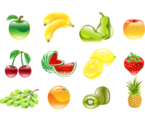 Picture of various vegetables and fruits